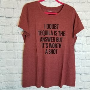 Torrid Tequila Shot Funny Graphic Tee Shirt